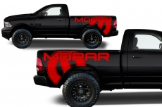 Dodge Ram Truck 1500/2500 2009-2014 Custom Vinyl Decal - MOPAR