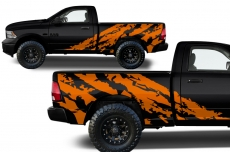 Dodge Ram MIDBOX Truck 1500/2500 2009-2014 Custom Vinyl Decal - SHRED