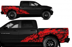 Dodge Ram Short Box Truck 1500/2500 2009-2014 Custom Vinyl Decal - NIGHTMARE
