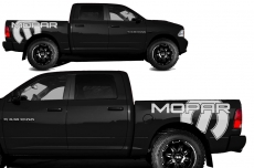 Dodge Ram Short Box Truck 1500/2500 2009-2014 Custom Vinyl Decal - MOPAR
