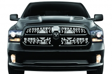 Dodge Ram 1500 2013-2015 - Cold Front Winter Grille Cover Inserts