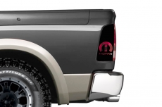Dodge Ram 1500 Brake Light Vinyl Graphics Decal BLACK 2009-2014 MOPAR