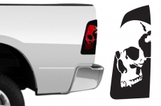 Dodge Ram 1500 Brake Light Vinyl Graphics Decal BLACK 2009-2014 SKULL