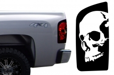 Chevrolet Silverado Truck 1500/2500/3500 Brake Light Vinyl Graphics Decal BLACK 2008-2013 SKULL