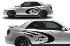 Subaru Impreza STI WRX Custom Vinyl Decal Wrap Kit 2002-2007 - STARS