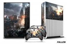 Microsoft Xbox ONE S 1S Console plus 2 Controller Skins