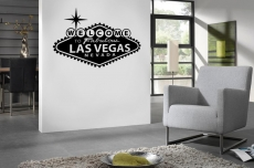 "46"" X 31"" Las Vegas Sign Vinyl Bedroom Wall Art"
