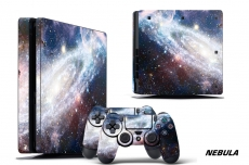 Sony PS4 Slim PlayStation 4 Slim Console Skin plus 2 Controller Skins