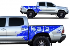Toyota Tacoma 2005-2015 Short Bed Custom Half Side Decal Truck Wrap 4 Door - BAJA