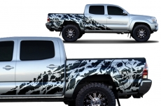 Toyota Tacoma 2005-2015 Short Bed Custom Half Side Decal Truck Wrap 4 Door - NIGHTMARE