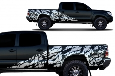 Toyota Tacoma 2005-2015 Long Bed Custom Half Side Decal Truck Wrap 4 Door - NIGHTMARE