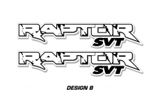 "RAPTOR SVT Truck Bed Graphic Decal Sticker Set For Ford F150 Raptor 48""x9.5"""