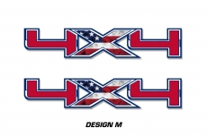 "4x4 Off Road Truck Bed Decal Set For Ford F150 Raptor Vinyl Stickers 16"" X 5"""