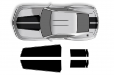 Vinyl Decal Hood and Trunk Stripes Wrap Kit for Chevy Chevrolet Camaro 10-13