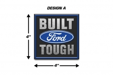 Built Ford Tough Emblem Logo Decal 2PK Set Truck Stickers