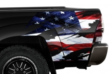 Toyota Tacoma Truck Quarter Panel Wrap Graphic Decal Printed TORN 2005-2015